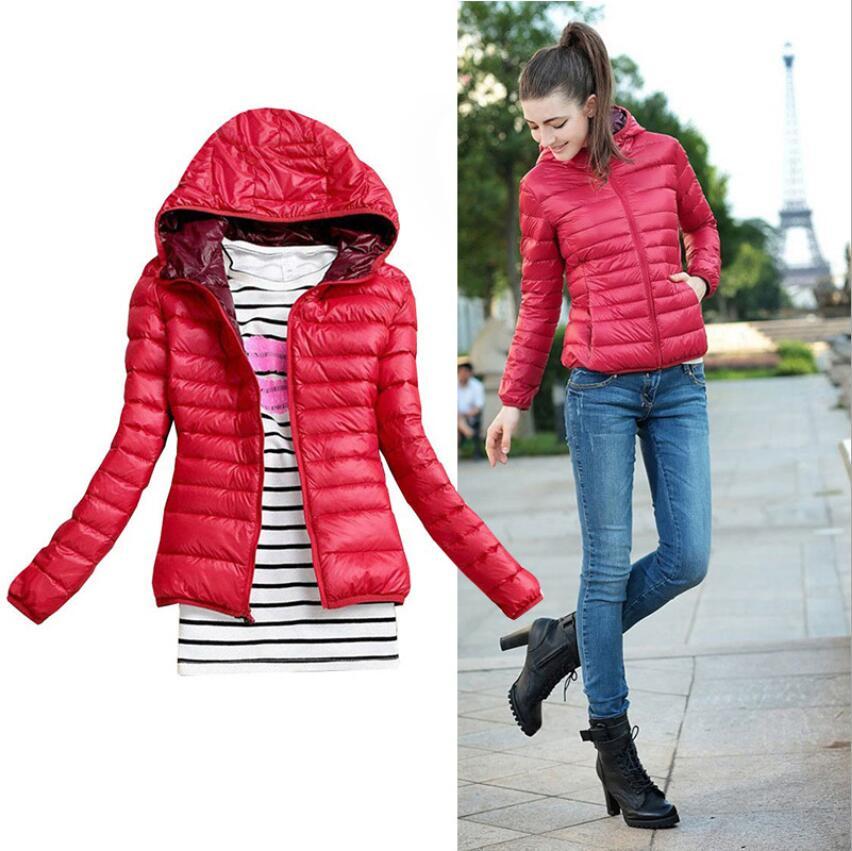 Women   Basic     Jacket   Coat Female Slim Hooded Brand Cotton Coats Casual Black   Jackets     Basic   Light Warm 2019 Autumn Winter