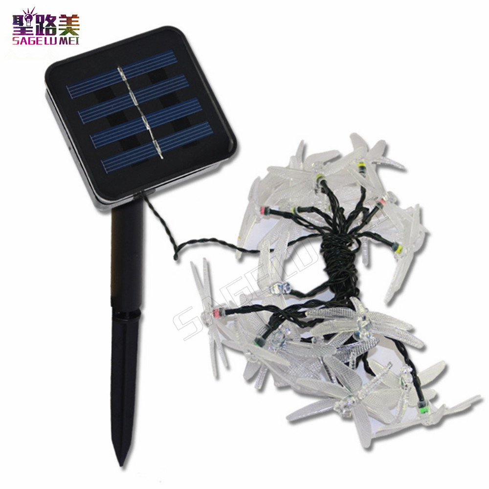Tanbaby-Outdoor-Solar-Led-String-light-5M-20-Led-dragonfly-5solar-panel-strip-light-IP65-Waterproof