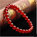 Wholesale Genuine Natural Red Agate Round Beads Bracelet For Women Femme Charm Stretch Crystal Bracelet Free Shipping
