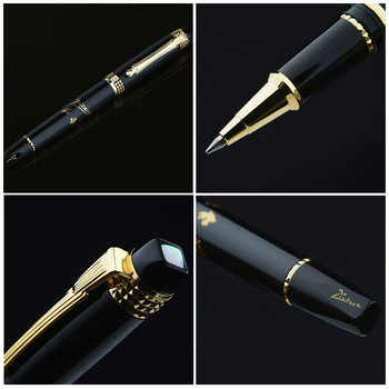 Picasso Pimio 926 Luxury Black and Gold Roller Ball Pen with Original PU Gift Box Ballpoint Pens Smooth Writing Stationery