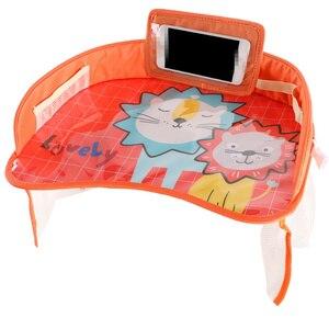Image 5 - 車のベビーシートテーブルポータブル多機能漫画ベビー子供子供車の安全座椅子トレイのおもちゃ食品ドリンク携帯電話ホルダー