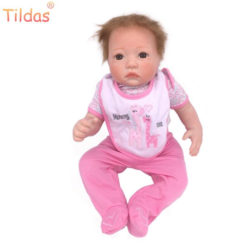 Здесь продается  45CM Vinyl Reborn Doll Kids Playmate Gift for Girls 18 Inch Baby Alive Soft Toys for Children,Lifelike Reborn Babies Bonecas   Игрушки и Хобби