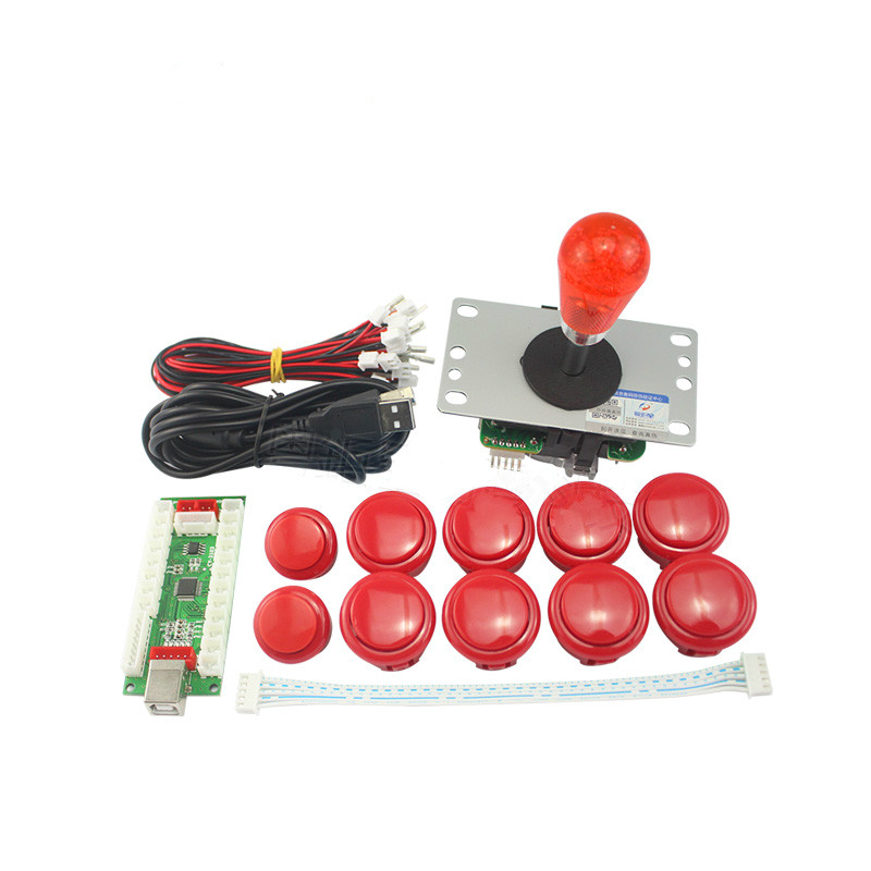 Classic Arcade Game DIY Part for Mame USB Cabinet 2xZero Delay USB Encoder to PC Games Way Joystick Arcade Push Buttons