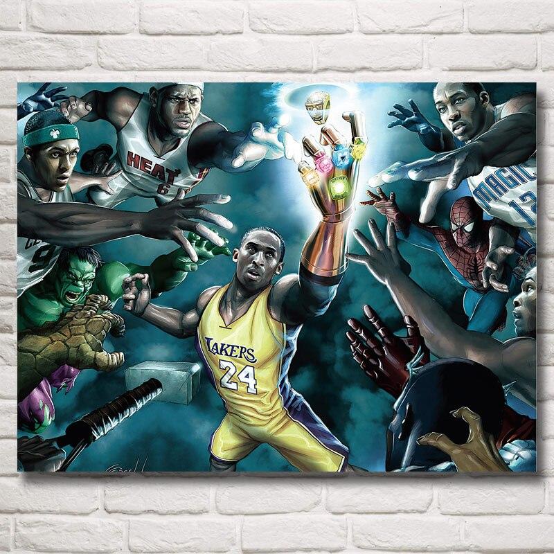 FOOCAME No. 24 Basketball Star Kobe Bryant Art Silk