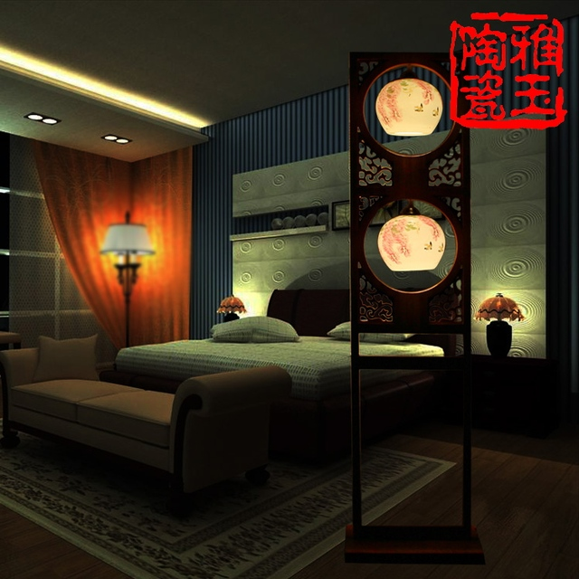 Modern Chinese Style Atmosphere Living Room Ceramic Light Double ...