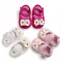 Nylon Clasp White/Pink/Rose Red Summer Baby Girls Breathable Anti Slip Shoes Flower Lovely Toddler Soft Soled First Walkers
