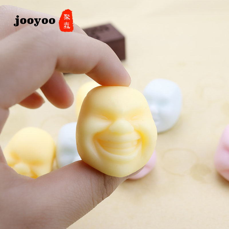 Mini Squishy Antistress Face Reliever Grape Ball Autism Relax Doll Relief Healthy Funny Toys Fun Prank Squeeze Toys