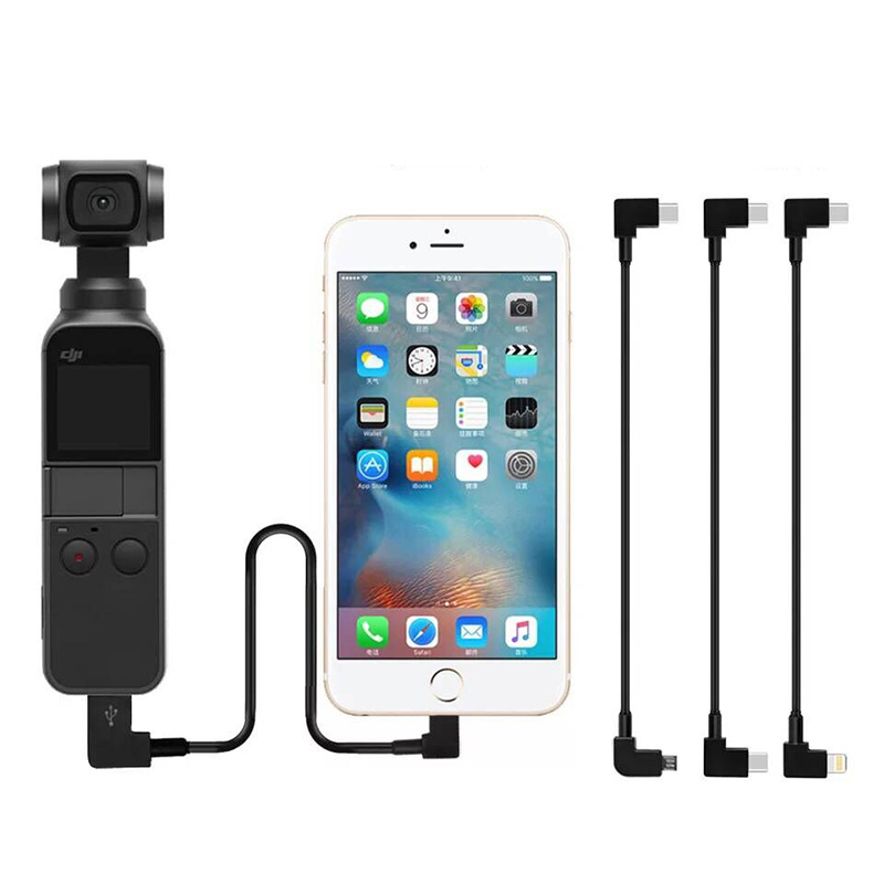30cm OSMO Pocket DJI Connect Cable Type-c Fit IOS Micro-USB OTG Data Cable Line For DJI Controller/HUAWEI/Xiaomi/Samsung/iPhone