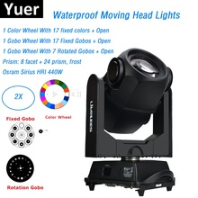 2XLot 440W 20R Waterproof Moving Head Lights Sharpy Beam Spot Stage Outdoor Effect Light Party Lighting