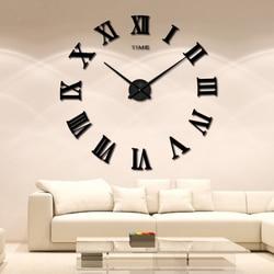 2018 New Big Mirror wall clock large size EVA wall stickers diy personality art 3D mirror wall mute clock home decoration clock