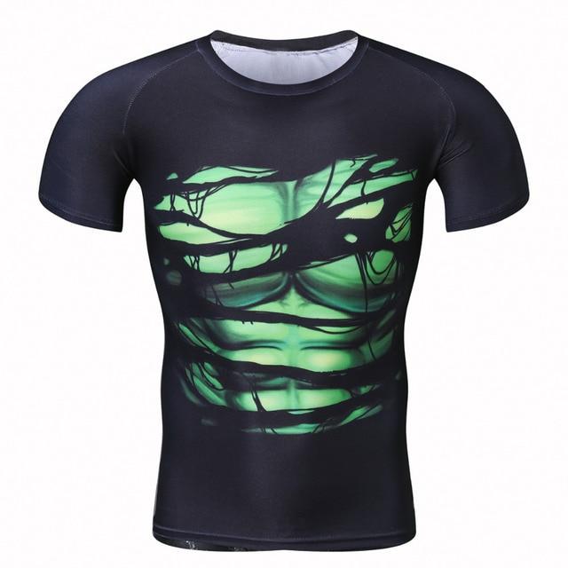 2017 camiseta creativa fresca de los hombres verde linterna contra Superman  manga corta fitness bodybuilding compresión dd146440d08f7