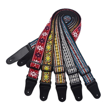 Free shipping leather head guitar straps,classical national style embroidery, fashion personality straps