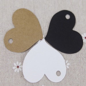 Heart Shape Kraft Paper Card Wedding Favour Gift Tag DIY Tag Price Label Party Favor Handmade Creative Crafts 50pcs 4.5*4cm
