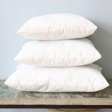 pillow insert sizes. vezo home rectangle white polyester soft handfeeling fabric sofa cushion insert pillow inner core filling 3 size sizes