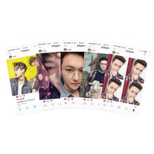 Kpop EXO Lay Ins Transparent Cards Fashion PVC Frosted Photocard Gift 5pcs/Set(China)