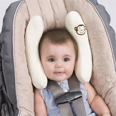 Baby Support Headrest Pillow Cartoon Monkey Design U Shape Neck Protection Pillows Car Seat Travel seat neck pillow