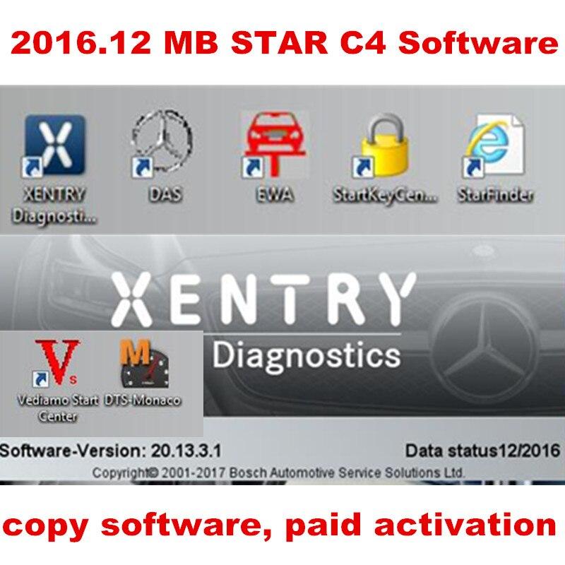 Prix pour 2016.12 MB ÉTOILE C4 LE Logiciel complet Inclus XENTRY/DAS/EPC/WIS/starfinder/EWA/VEDIAMO/DTS-Monaco Installé DANS HDD WIN7 Système