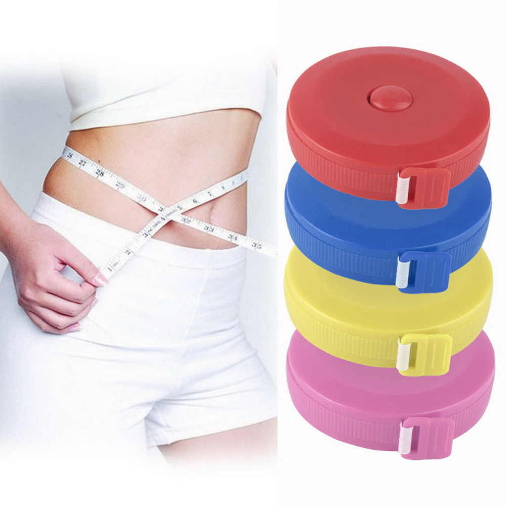 Dieting Tailor Fitness Caliper Measuring Body Gauging Tool 1.5M Retractable Measure Sewing Cloth Ruler Tape random color