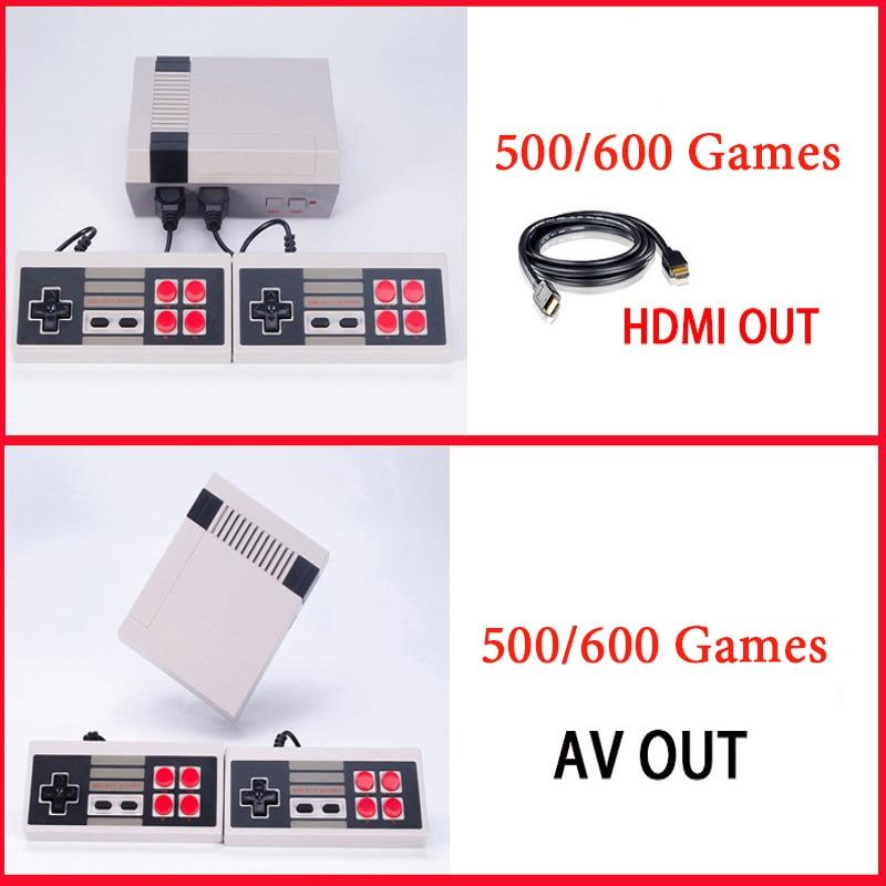 Игровая консоль мини ретро Семья ТВ портативных игровых консолей плеер HDMI Встроенный 500/600 игр HD двойной геймпад управления