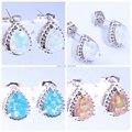 Atacado & varejo para as mulheres jóias orange/rainbow/fogo branco opala brincos de prata 12mm oh2323-24-25