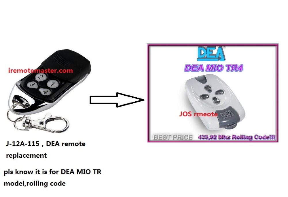 For DEA MIO TR 4 replacement remote control free shipping ручка телескопическая mg tr 82f truper 16012