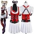 Vestidos de harley quinn batman arkham asylum joker dress cosplay disfraces de halloween uniformes para mujer niñas