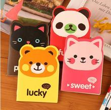 1 piece New hot Bear with big ear cartoon mini notebook cute notepad  diary book stationery creative notepad free shipping