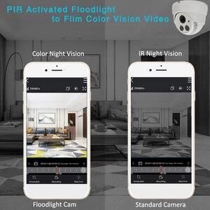Image 2 - Cámara tipo domo de seguridad inteligente, dispositivo de visión nocturna a todo Color con movimiento activado, WiFi 1080P HD, CCTV de vigilancia interior, Audio bidireccional