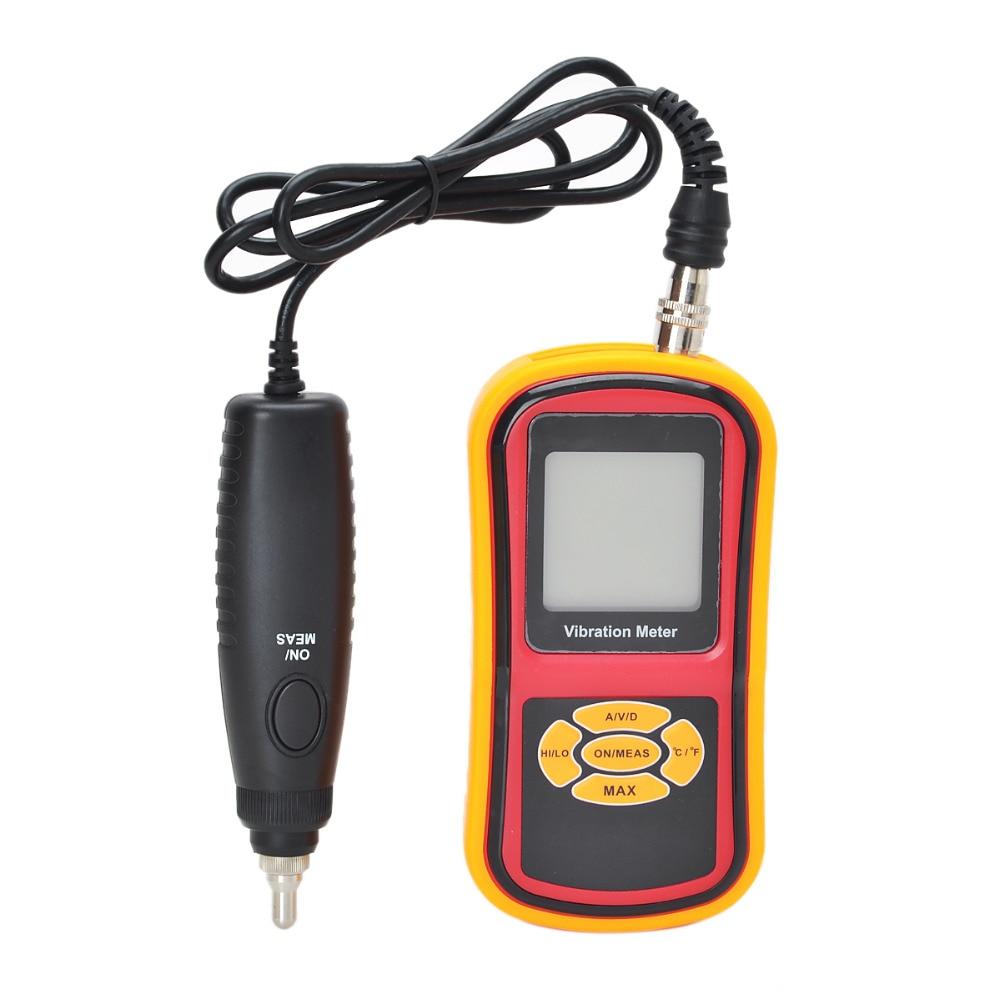 Fission portable digital vibration meter velocity/acceleration/displacement measurement free shipping acceleration velocity displacement vibration meter gm63a