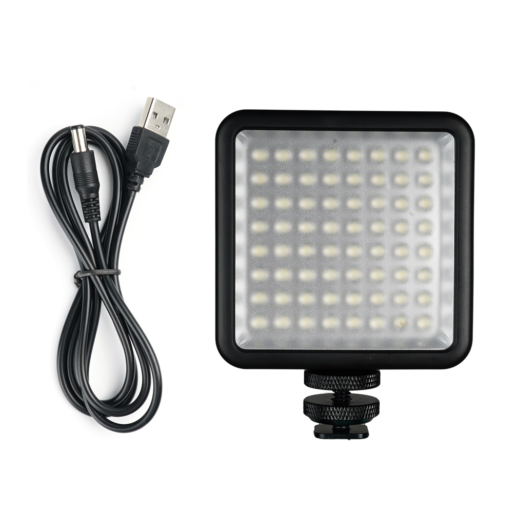 SUPON 64 LED Lamp USB Charger Cable on Camera 3 Hot Shoe Phone Live Stream Video Light Photo Lighting for iPhone Canon NikonSUPON 64 LED Lamp USB Charger Cable on Camera 3 Hot Shoe Phone Live Stream Video Light Photo Lighting for iPhone Canon Nikon