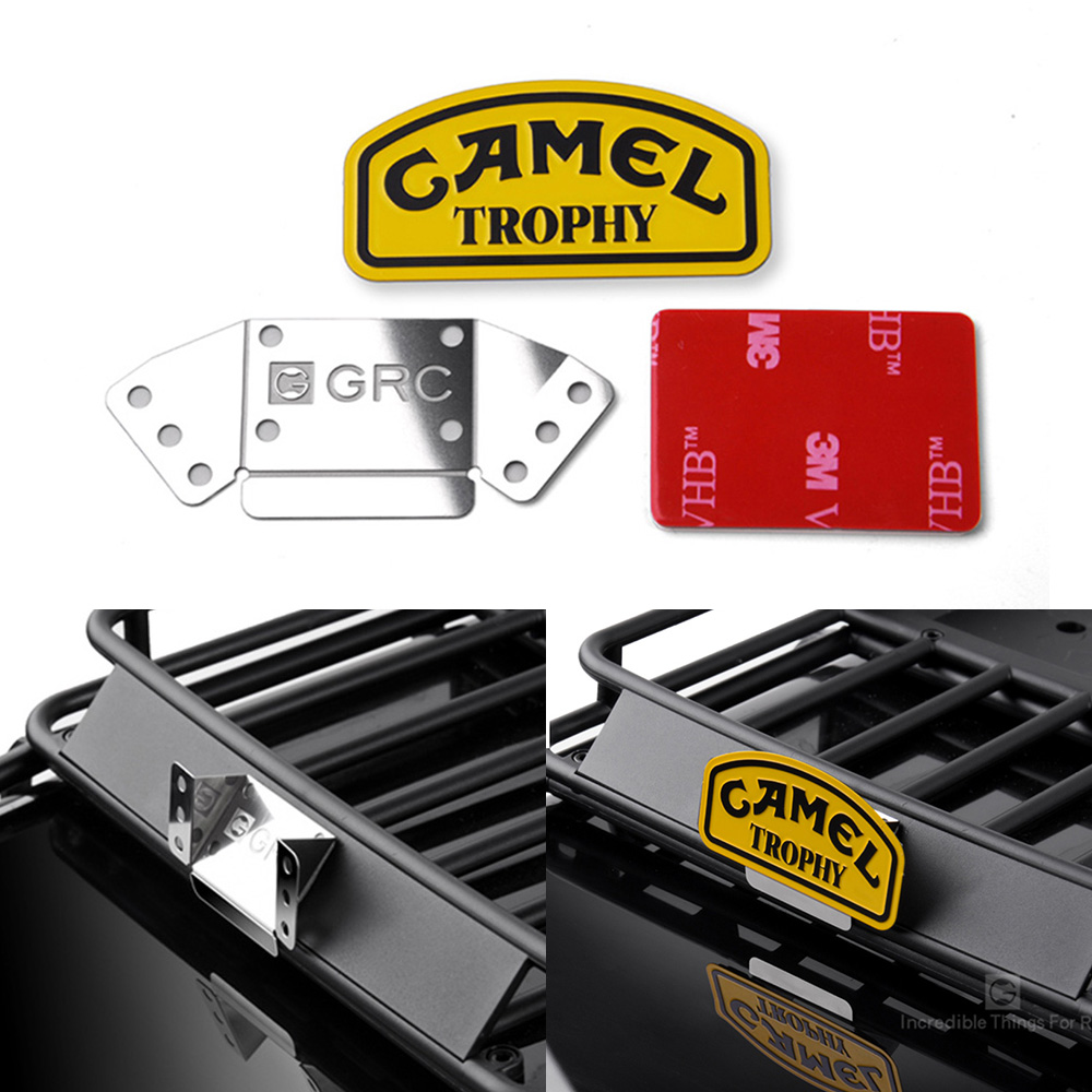 hight resolution of 1pcs metal trx4 camel trophy badge logo sticker for 1 10 scale rc crawler traxxas