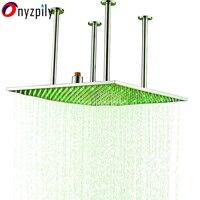 ChromeLED 20 латунь площадь Дождь Насадки для душа потолочный верхний душ опрыскиватель