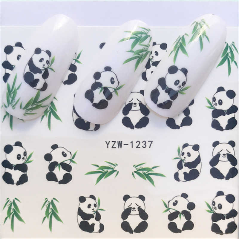 1 Sheet Butterfly/ Feather / Flower  Nail Art Water Decals Transfer Stickers Cute Animal Manicure Sticker