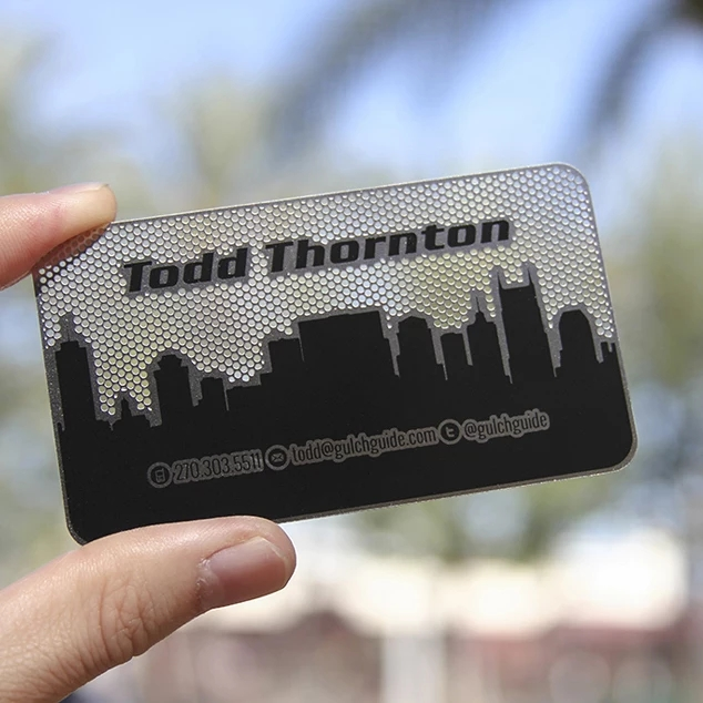 High Quality Standard Black Business Metal Name Card Stainless Steel Metal Business Cards