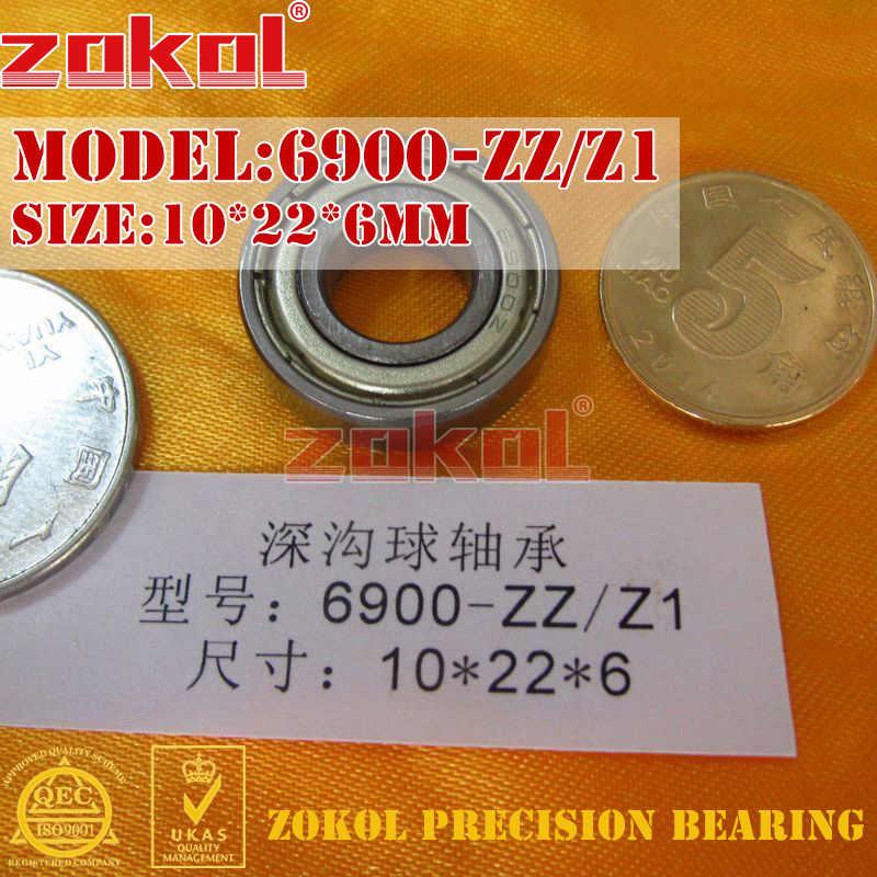 ZOKOL 6900 RS Z1 تحمل 6900 2RS ZZ Z1 6900ZZ 6900zz كرة أخدود عميقة تحمل 10*22*6 مللي متر