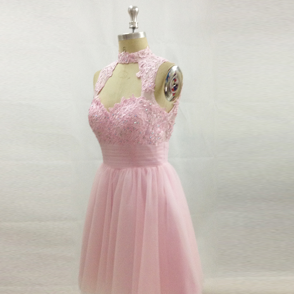 f07aed25149 Modest Cheap Pink Prom Dress for Graduation Lace Short Party Dresses  Backless Homecoming Dress Sequin Vestido de Festa Curto. W119 (5) W119 (3)  W119 (1) ...