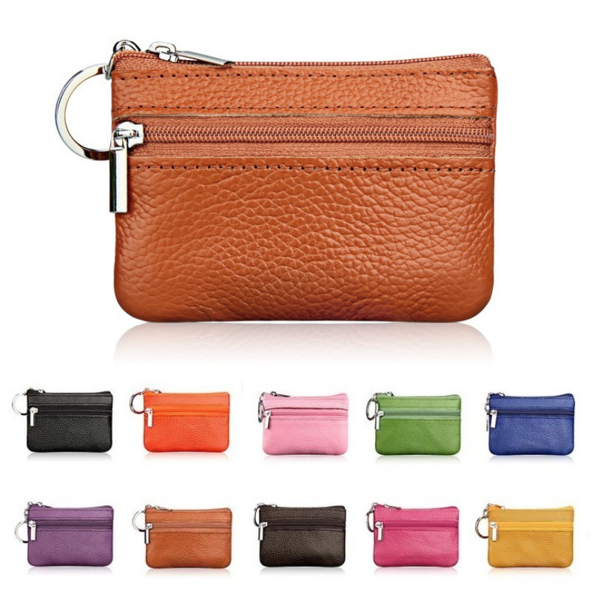 PU Leather Coin Purses Women's Small Change Money Bags Pocket Wallets Key Holder Case Mini Functional Pouch Zipper Card Wallet|Key Wallets| |  - title=