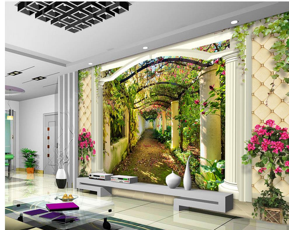 Wall Mural Photo Wallpaper: Custom Photo Wallpaper Large 3D Sofa TV Background