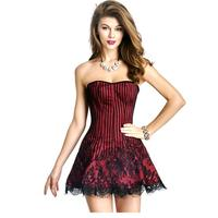 2018 S XXL 4 Colors Full Slips New Hot Shapewear Lingerie Waist Corset Dress Shaper Lace Sexy Lingerie Push Up BacKless Dresses