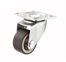 4PCS/LOT  Wheel D:25mm M6 (1inch) Mute Universal Caster Table (Loading 20kg)