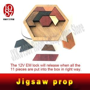 Image 2 - JXKJ1987 Escape room prop Tangram Prop real life room escape game finish jigsaw puzzles to unlock secret chamber room