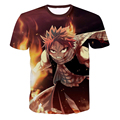 Mens Harajuku tee shirts Classic Anime Fairy Tail T-shirts Hipster 3D t shirt Etherious Natsu Dragneel Characters t shirts tees