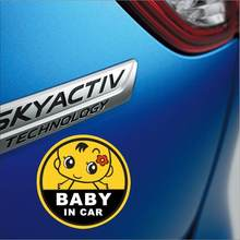 new car reflective baby stickers for car stickers bottle personality cute baby pregnant mother car styling(China)