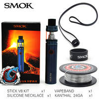 100 Original SMOK Stick V8 Starter Kit With TFV8 Big Baby 3000mAh With 0 3ohm V8