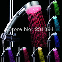 LED A9 ABS Hand Showers Water Pressured Shower Heads Multi Colors Flashing Temperature Sensor Shower Head