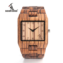BOBO BIRD New Arrival Men Watch L24 Zebra Wooden Watch Mens Luxury Brand Design All Wood Quartz Wristwatch in Gift Box