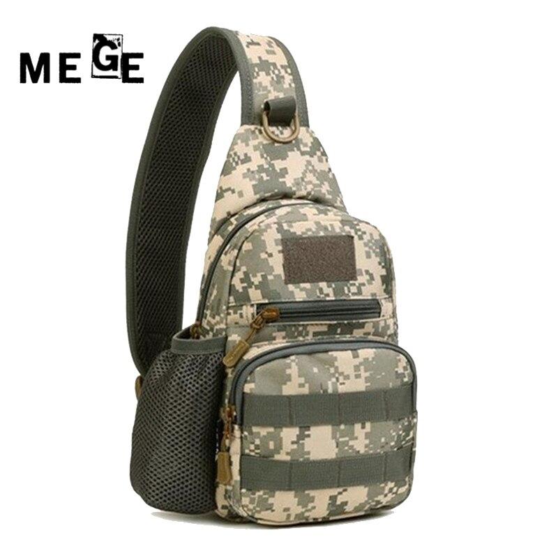 MEGE Ανδρική τσάντα Εξοπλισμός κατασκηνώσεων Τσάντα γυμναστικής Nylon Crossbody Sling Μονοσυσκευασία Στρατιωτικό Haversack Υπαίθρια αθλήματα