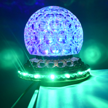 Mini LED Stage Light Rotating Colorful DJ Disco Effect Light Crystal Magic Ball Strobe Stage Lighting Home Christmas ktv Party 2xlot wholesale mini led roller scanner effect light 10w full color strobe stage lighting dj lamp rgbw auto rotating led bulb