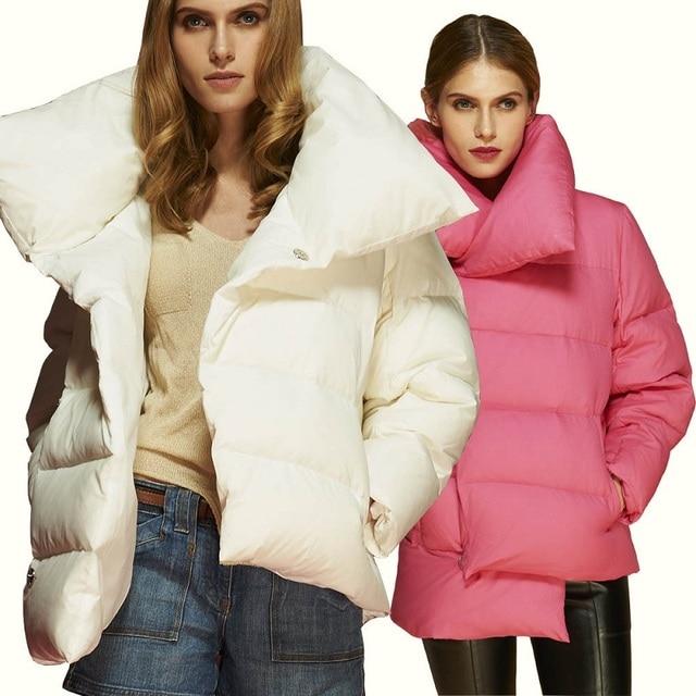 bajo costo el mejor sobornar auténtico € 60.04 10% de DESCUENTO|Abrigo elegante mujer corto invierno señoras corto  Chaquetas cortas de Mujeres de blanco para las mujeres chaqueta acolchada  ...