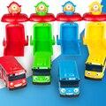 4 unids/set maqueta el pequeño garaje autobús bus bus niños en miniatura de plástico pequeño bebé chirstmas regalo